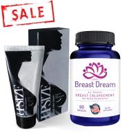 Combo hoàn hảo viên uống nở ngực  Upsize Breast Dream và kem bôi nở ngực Upsize Nga