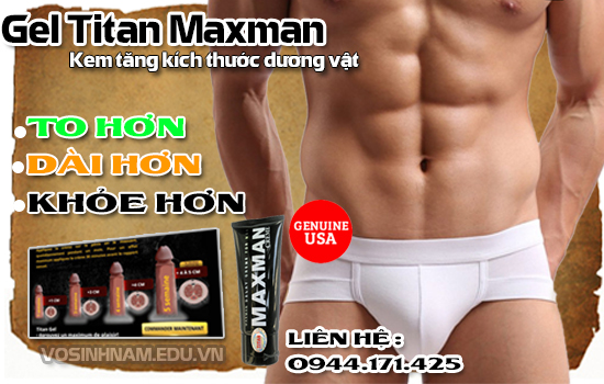 Gel Titan Maxman 2016 Cream